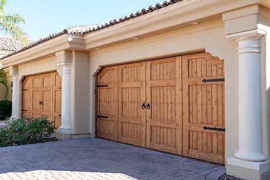 Custom wood garage doors