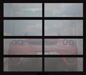 grey tinted glass garage doors