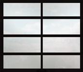 White Laminate Glass Garage Doors